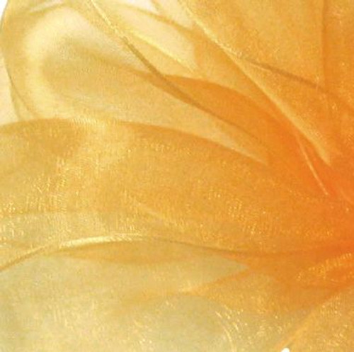 Old Gold Sheer Fabric.