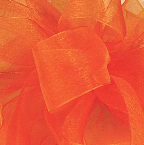 Tropical Orange Sheer Fabric.