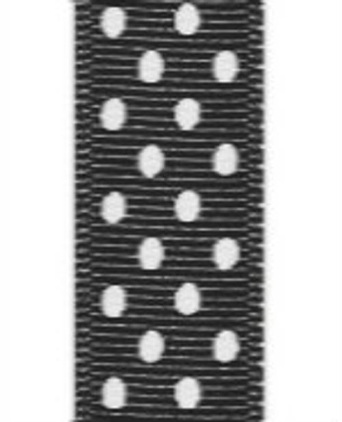 Black / White Grosgrain Confetti Dots