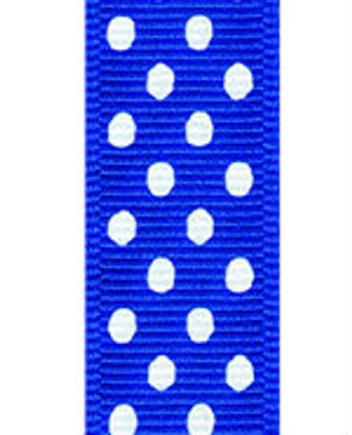 Century Blue / White Grosgrain Confetti Dots
