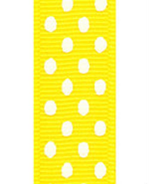 Yellow / White Grosgrain Confetti Dots
