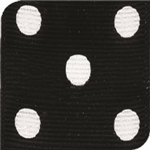 Black / White Grosgrain Polka Dots