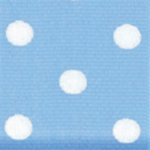 Blue & White Grosgrain Polka Dots