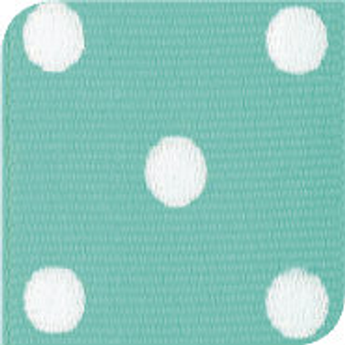 Diamond / White Grosgrain Polka Dots