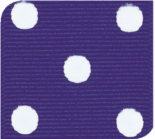Electric Blue / White Grosgrain Polka Dots