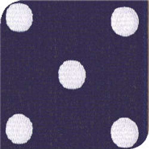 Light Navy / White Grosgrain Polka Dots