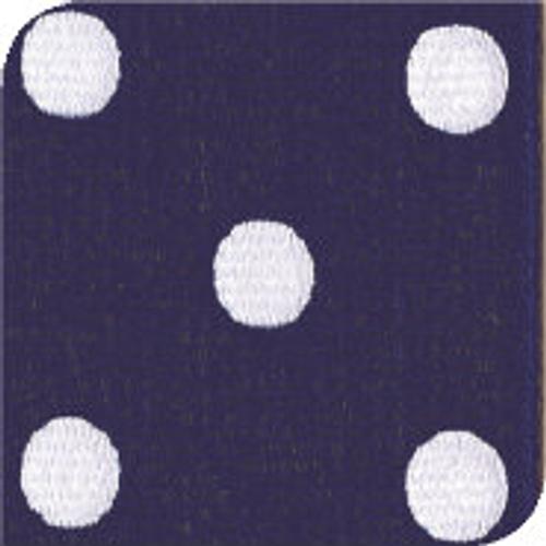 Light Navy & White Grosgrain Polka Dots