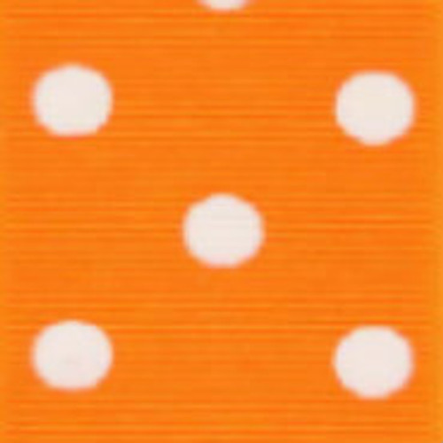 Torrid Orange / White Grosgrain Polka Dots