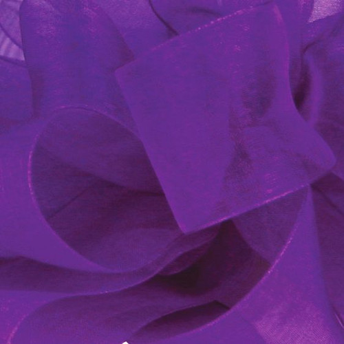 Purple Sheer Fabric.