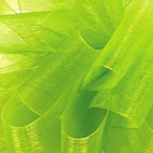 Lemongrass Sheer Ribbon Fabric.