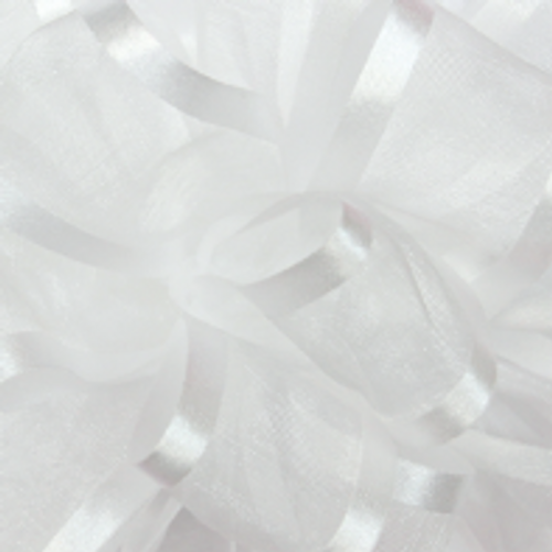 White Pirouette Sheer and Satin Ribbon