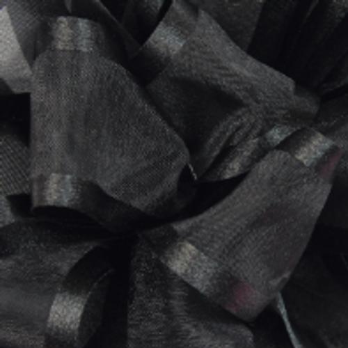 Black Pirouette Sheer and Satin Ribbon