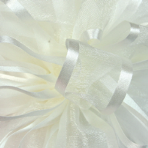 Antique White Pirouette Sheer and Satin Ribbon