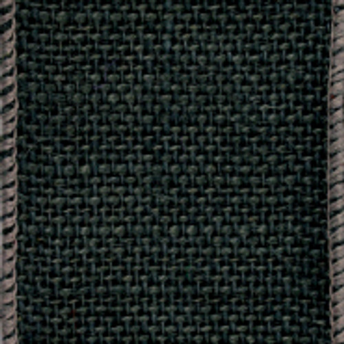 Black Wire Solid Burlap Ribbon