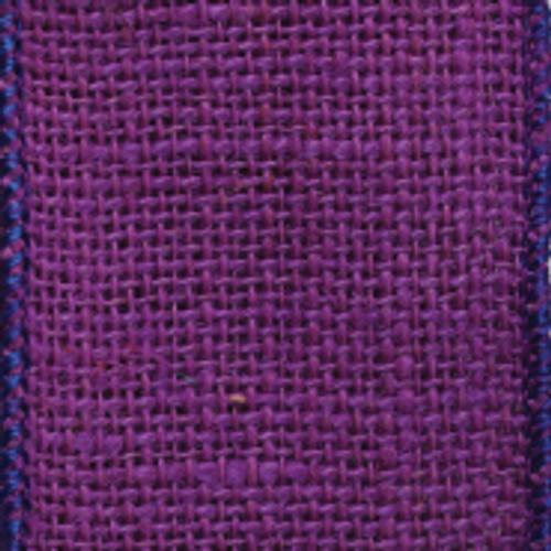 Purple Burlap Ribbon