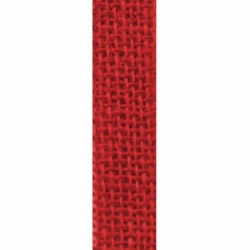 Red- Burlette Narrow Burlap Ribbon