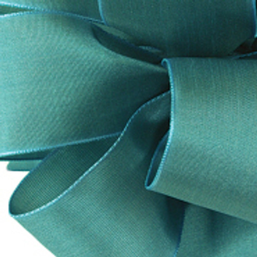 Turquoise Wired Woven Ribbon