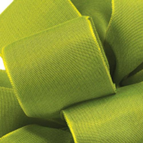 Lemon Grass Wired Woven Ribbon