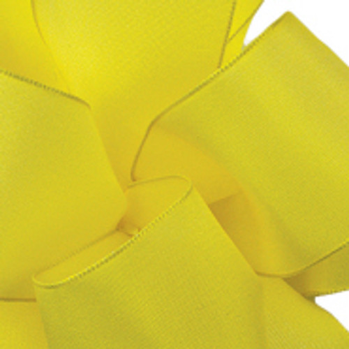 Yellow Chiffon Wired Woven Ribbon