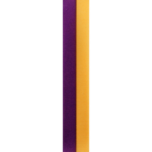 Gold and Purple Vertical Striped Ribbon