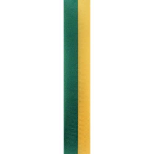 Gold and Emerald Vertical Striped Ribbon