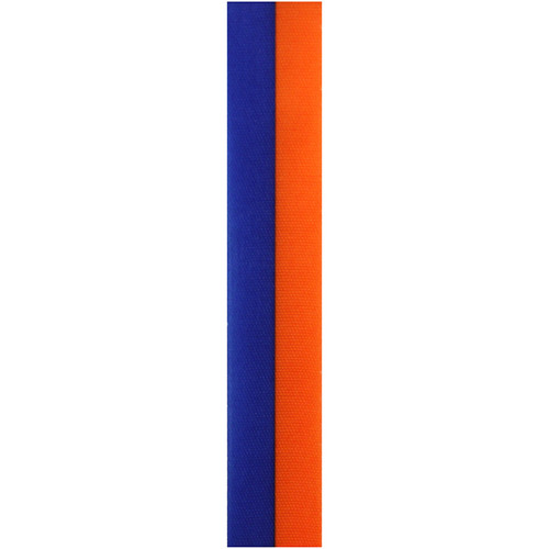 Orange and Navy Vertical Striped Ribbon