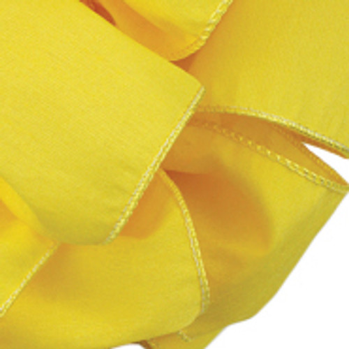 Anisha - Yellow Chiffon Wired Edge Ribbon