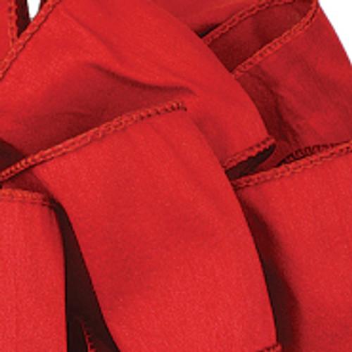 Red Anisha Wired Edge Ribbon