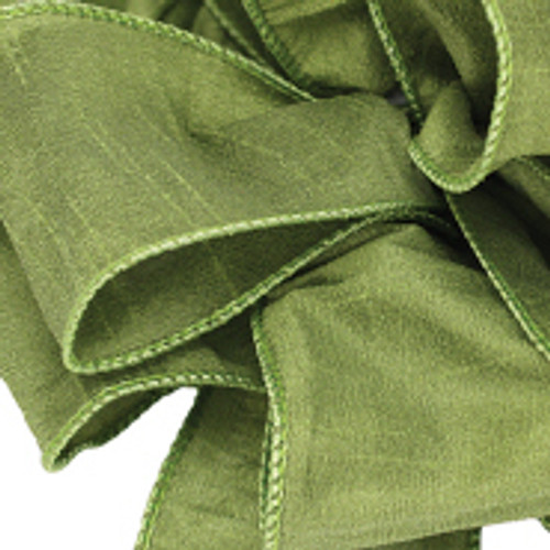 Chartreuse Anisha Wired Edge Ribbon