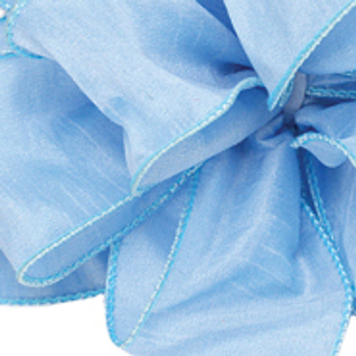 Sky Blue Anisha Wired Edge Ribbon