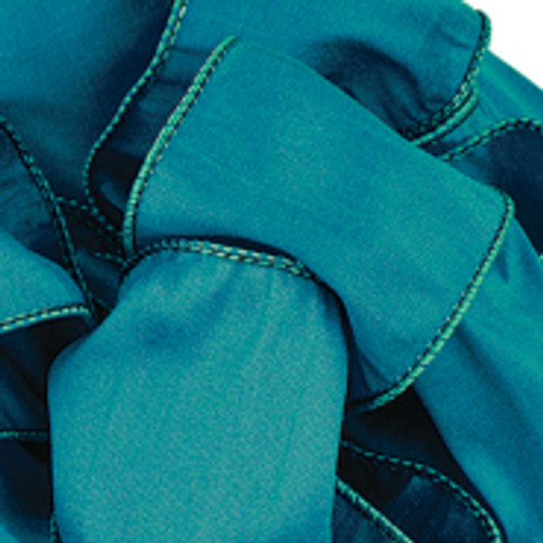Deep Teal Anisha Wired Edge Ribbon