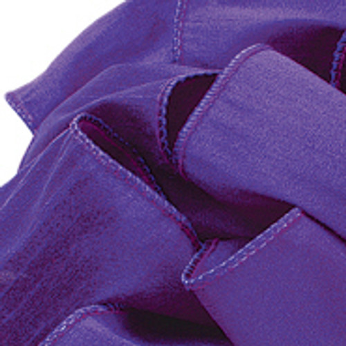 Purple Anisha Wired Edge Ribbon