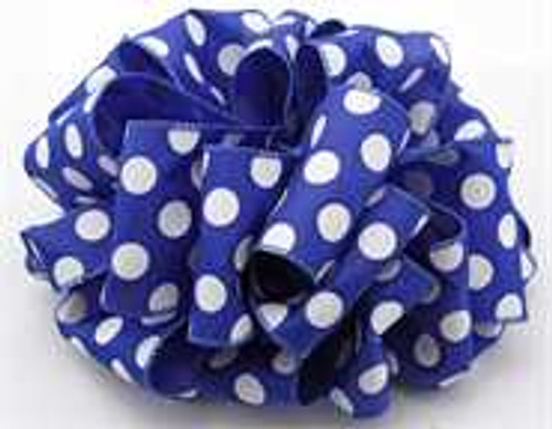 Royal Polka Dot Wired Ribbon
