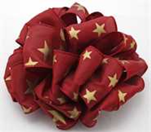 Burgundy and Gold Star Wired Ribbon