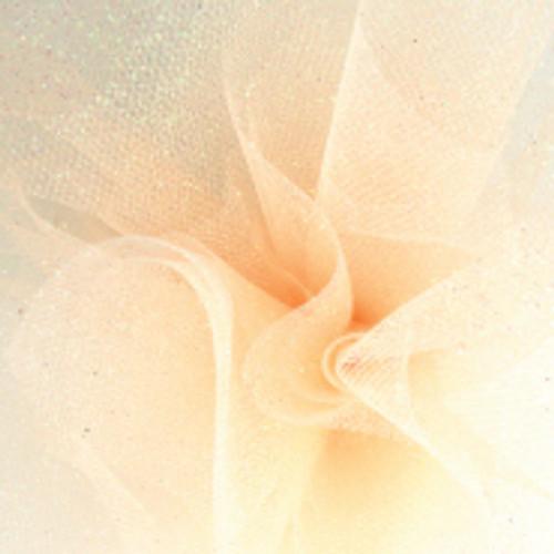 Sparkle Tulle Fabric - Peach