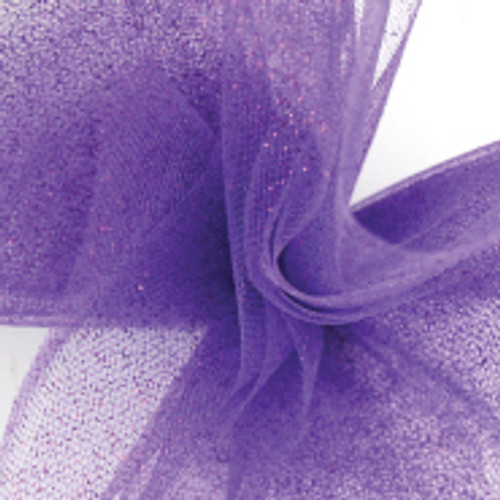 Sparkle Tulle Fabric - Purple