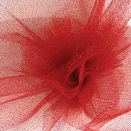 Sparkle Tulle Fabric - Red