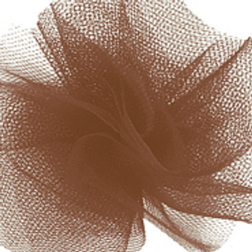 Solid Tulle Fabric - Chocolate