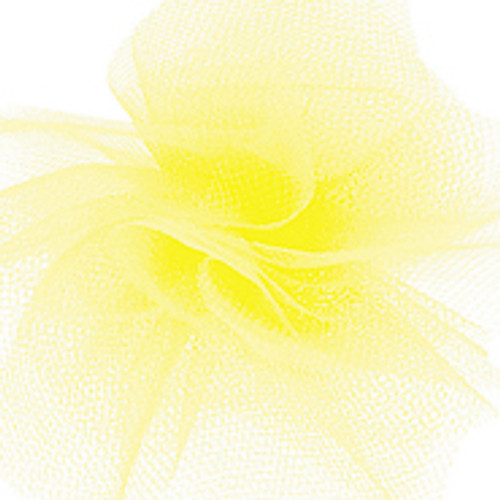 Solid Tulle Fabric -New Yellow