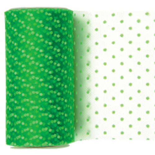 Apple Dotted Tulle Fabric