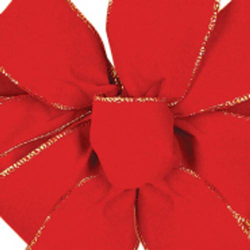 Red Noble Wired Velvet Ribbon