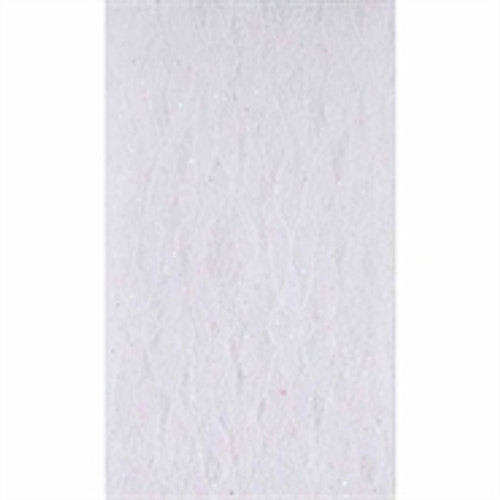 White Lacey Tulle Fabric