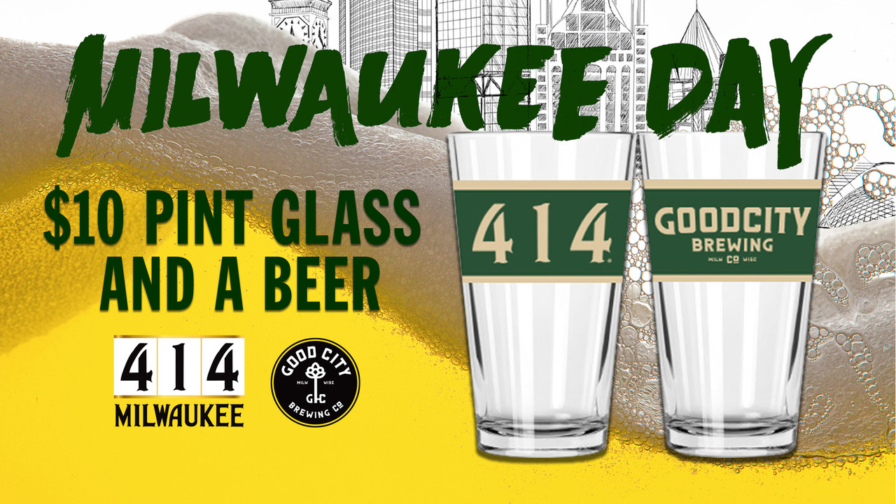 414 Pint Glass with Good City Brewing