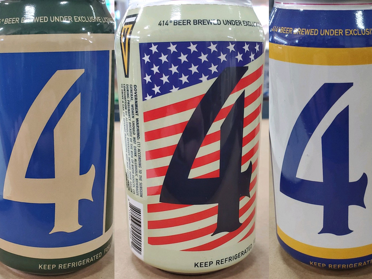 New 414 beer cans salute America, the Bucks and the Brewers