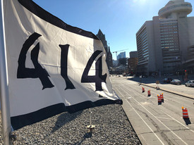 414 UWM Panther Arena Flags