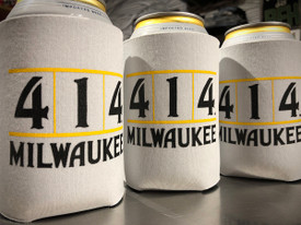 Proper Milwaukee beer koozie. 414 beer koozie is an open cell foam that absorbs water. The ability to absorb condensation from cans and bottles is one of the bene ts of this product when used in beverage insulators.