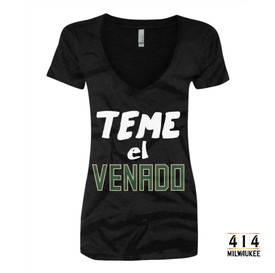 Since Milwaukee has a considerable Spanish speaking population, we had to make Teme el Venado t-shirt, right?  Or Fear the Deer in English. Get your Espanol on and celebrate your heritage and pride in our basketball team.