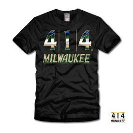 414 Milwaukee Basketball Rainbow T-shirt