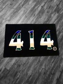414 Basketball Black rug