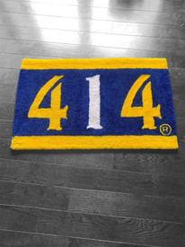 414 Blue and Gold Rug